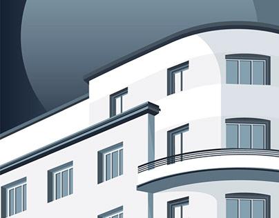MODERN CITY OF GDYNIA / ARCHITECTURE ILLUSTRATION