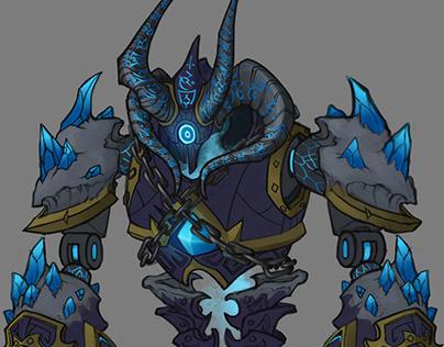Dark Magic Golem commission