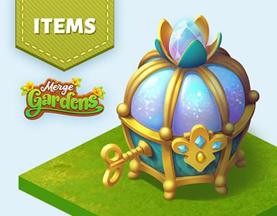Merge Gardens - Props 3D models
