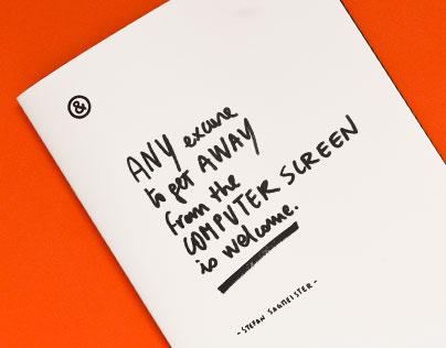 Artist Research – Stefan Sagmeister