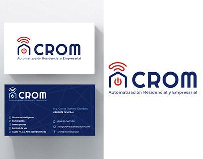 Diseño de logo y tarjetas para empresa de Domótica.