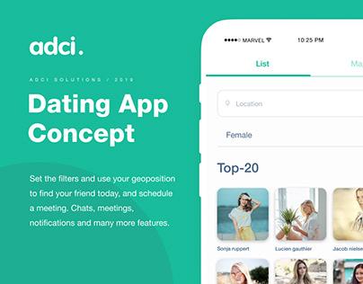 Dating app | UX/UI