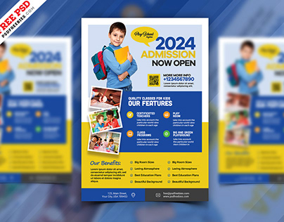 School Admission Open AD Flyer PSD