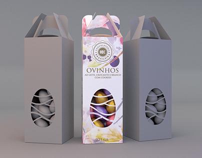 Embalagens 3D Páscoa Chocolateria Brasileira