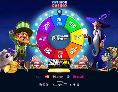 Spinning Wheel Interactive Landing Page for Casino