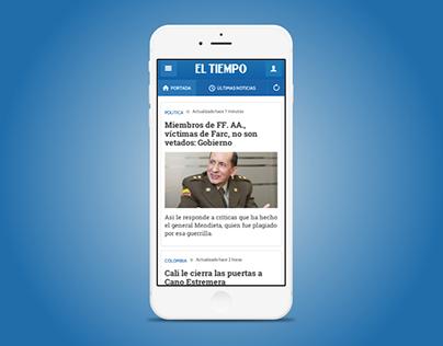 Web App El Tiempo