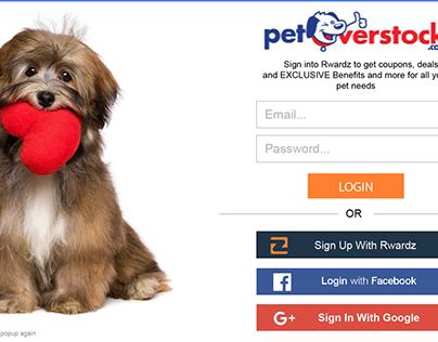 Pet Overstock Website Popup