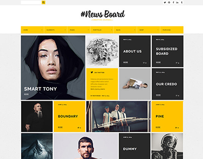 News Board - WordPress Theme