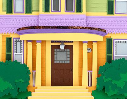 """Newton House"" Custom Architectural Illustration"