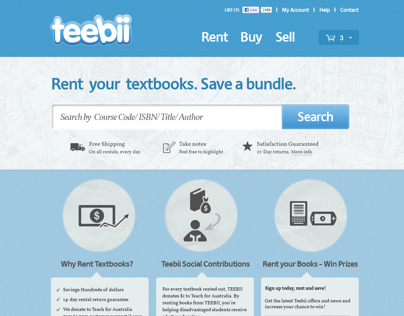 "Website for the online library ""Teebii"""