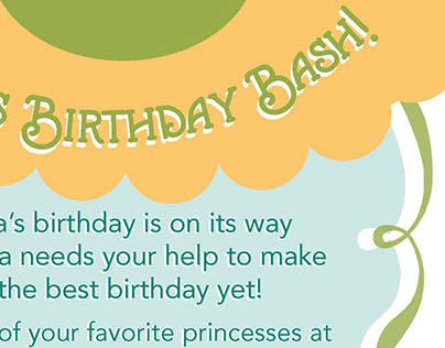 Anna Birthday Flyer