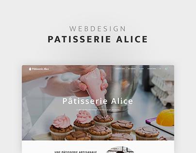 Pâtisserie Alice - Site web