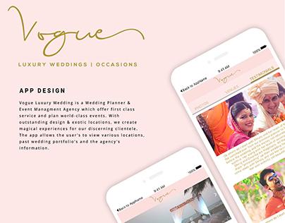 Vogue Luxury Weddings App Design