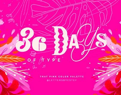 36 DAYS OF TYPE – 2020