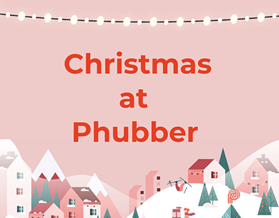 Christmas Themed visuals for Phubber app