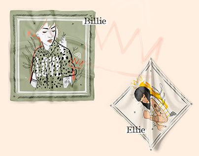 Les foulards & bandana Marie.rose&georges