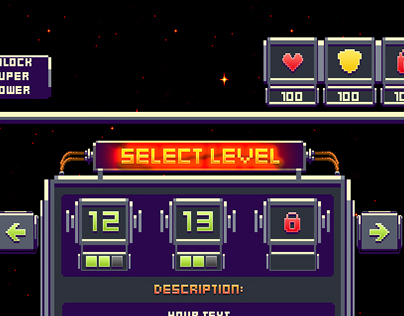 Pixel-art game UI (free)