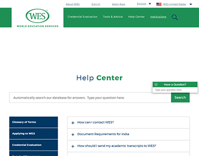 Self-service app and help center.