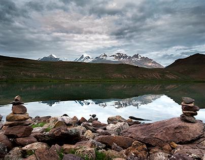Chandar Taal, Reflections, High Altitude lake in Himala