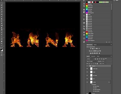 stand free text effect in photoshop on Behance