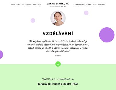 Tvorba webu - Jarka Staňková (2020)