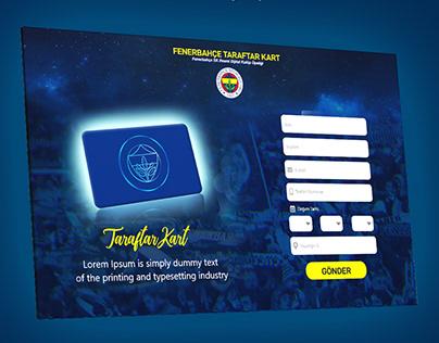 Fenerbahce Fan Card UI Design