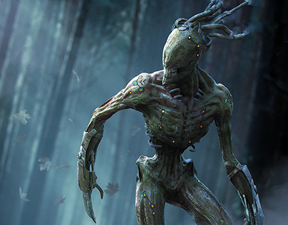 The Menk: Creepy Creature in Zbrush + Keyshot + PS