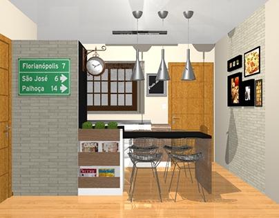 PROJETO: cozinha de um loft