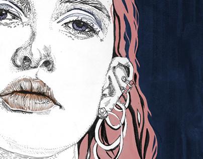 Alexander McQueen Tribute Fashion Illustration
