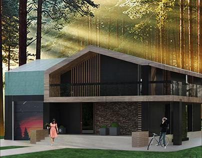 Проект загородного коттеджа 269,7 м²