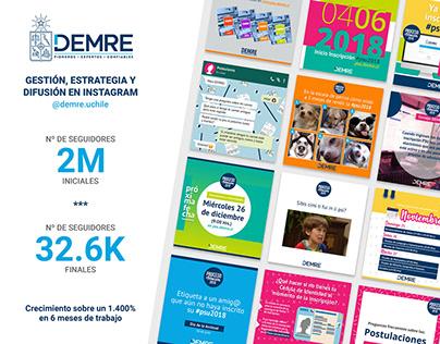 DEMRE (U de Chile) Diseño y gestión Instagram