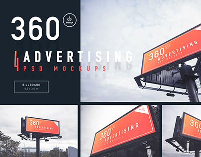 Billboard – 360 Advertising Mockups