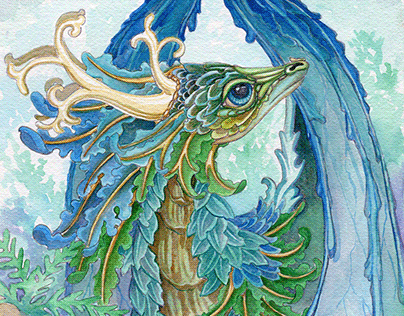 The Ruffled Forest Dragon