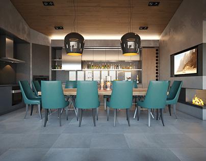 BBQ interior design