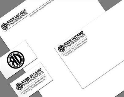 Robb DeCamp Photographer Logo Design & Stationery