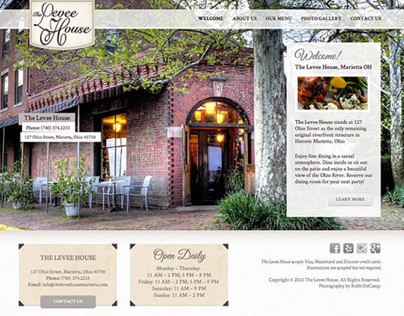 The Levee House Website