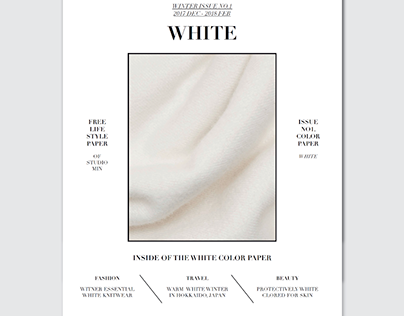 Color Paper Issue No1. White