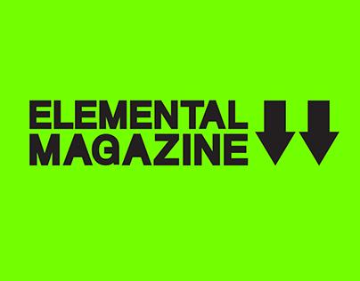 ELEMENTAL MAGAZINE rebrand art direction & design