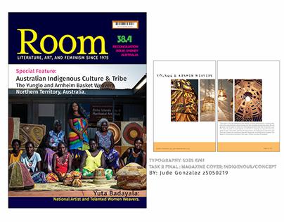 Magazine Cover: ROOM Typography UNSW 2016