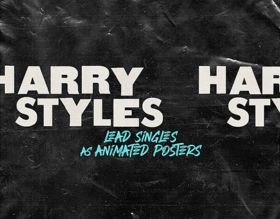Harry Styles' Lead Singles as Animated Movie Posters
