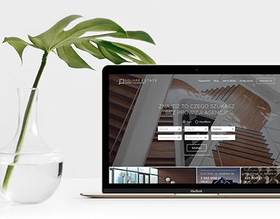 Square Estate Website Design