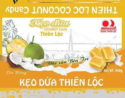 Bao bì kẹo dừa Thiên Lộc