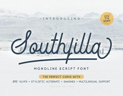 Southfilla-Monoline Script Font