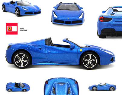 Ferrari toy car photo editing