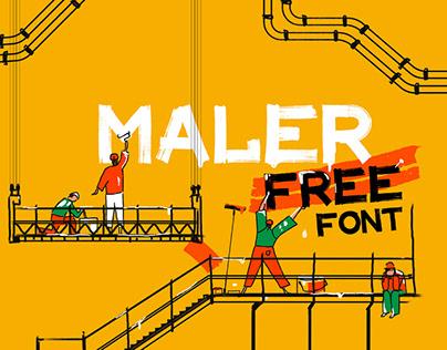 MALER - FREE DISPLAY FONT