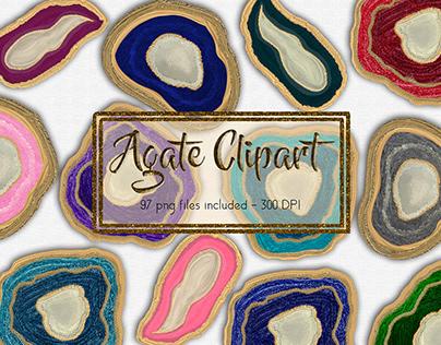 Agate Clipart Set