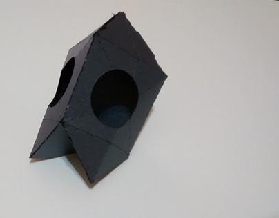 Paper weird skull project