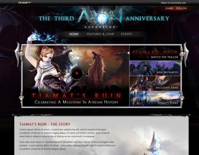 Aion's 3rd Anniversary: Tiamat's Ruin Microsite