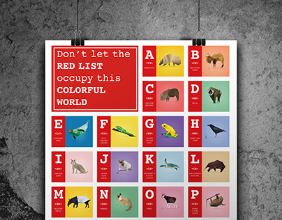 Alphabet Poster for Endangered Animals