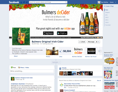 Bulmers Original Facebook Cover Image